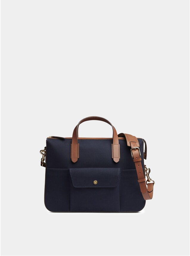 Midnight Blue / Cuoio MS Briefcase