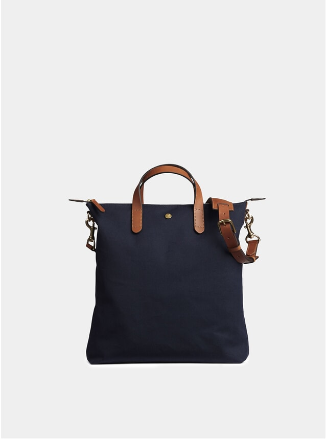 Midnight Blue / Cuoio MS Shopper