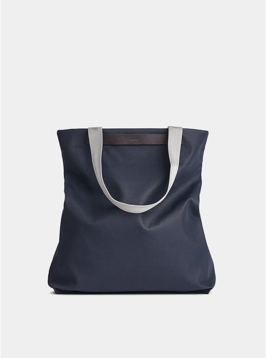 Navy / Dark Brown Canvas M/S Flair Tote