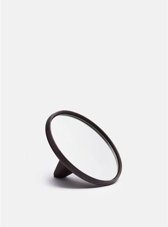 Black Satellite Hand Mirror