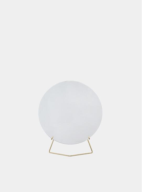 Brass 20cm Standing Mirror