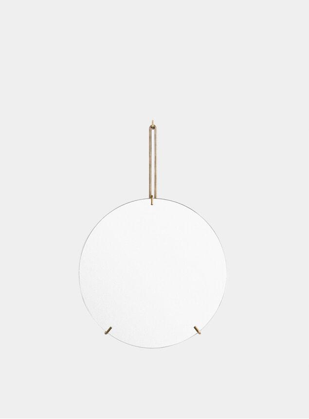 Brass 30cm Wall Mirror