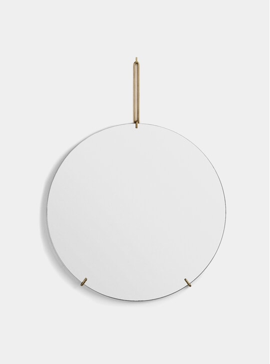 Brass 70cm Wall Mirror