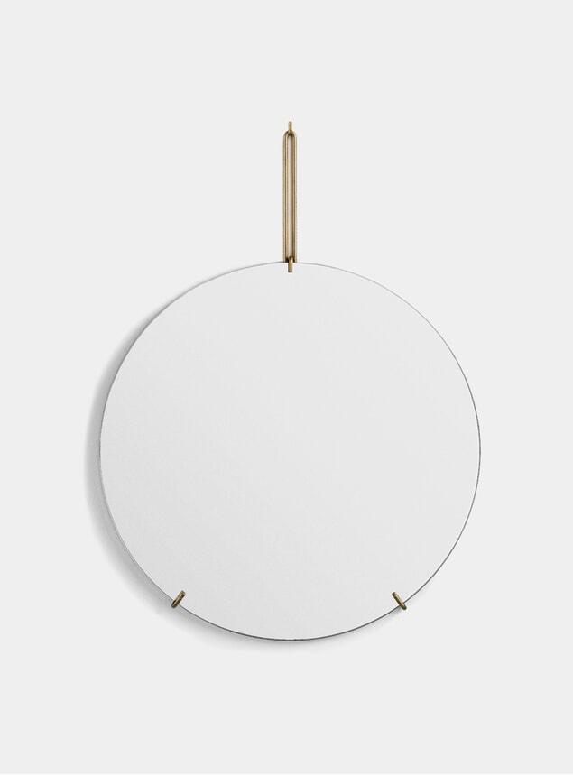 Brass 70cm Wall Mirror