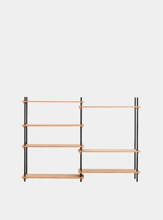 Oak Medium Double Oak Shelving System