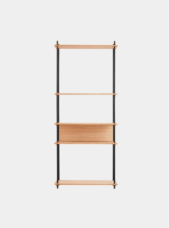 Oak Tall Single Shelving System