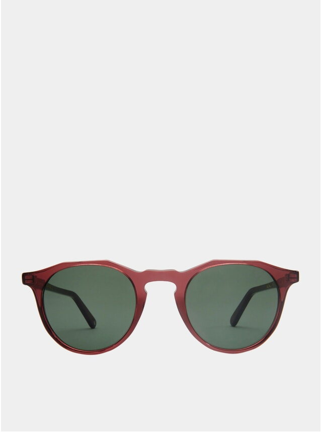 Burgundy / Green Kallio Sunglases