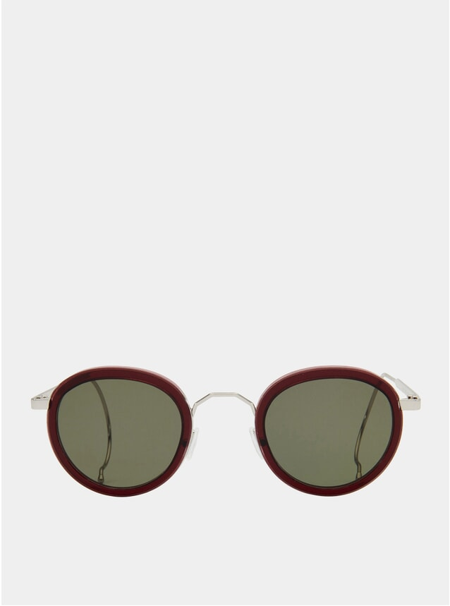Burgundy / Green London Fields Sunglasses