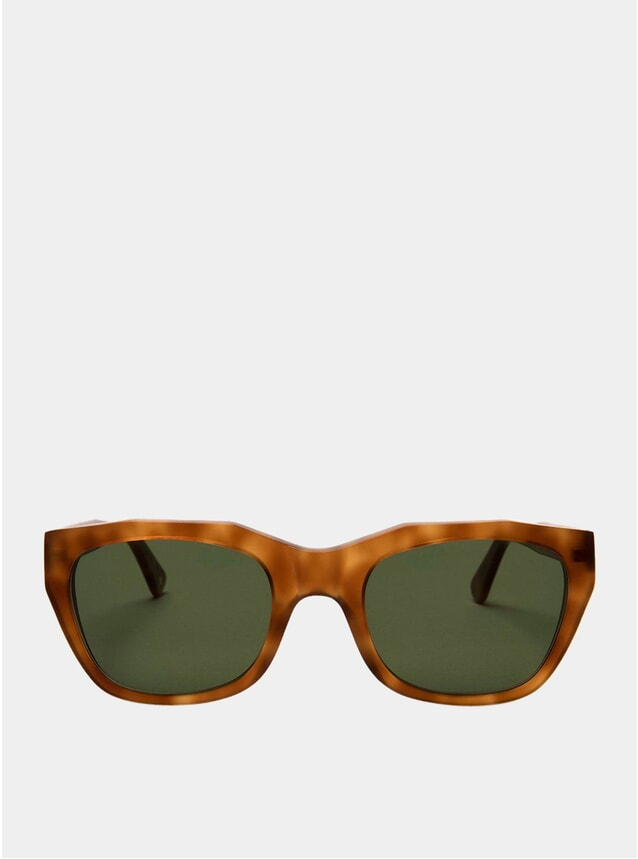 Light Tortoise / Green Gracia Sunglasses