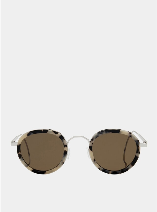 White Tortoise / Brown London Fields Sunglasses