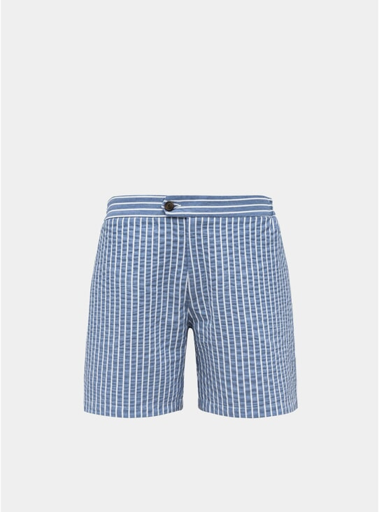 Azure Blue Tailored Original Swim Shorts