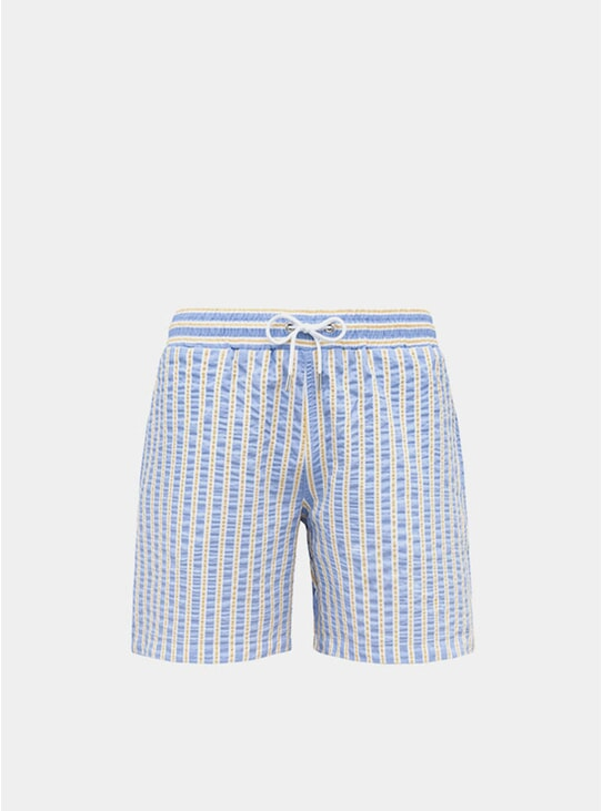 Sky Blue / Yellow Classic Original Swim Shorts