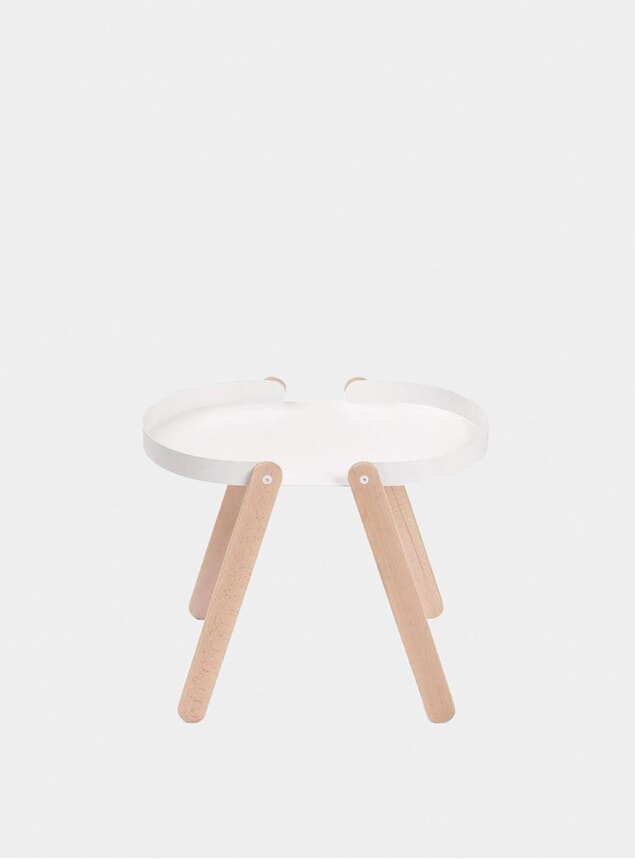 White Tepsi Side Table