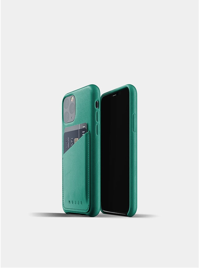 Alpine Green Full Leather Wallet iPhone 11 Pro Case