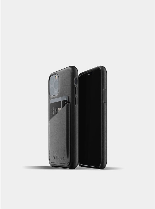 PRE-ORDER Black Full Leather Wallet iPhone 11 Pro Case