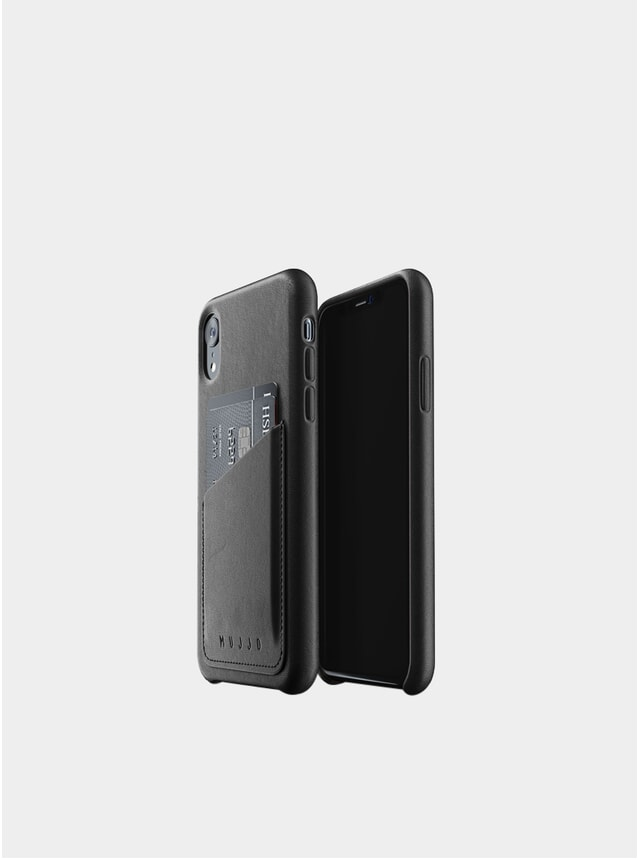 Black iPhone Xr Leather Wallet Case
