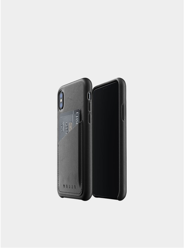 Black iPhone Xs Leather Wallet Case