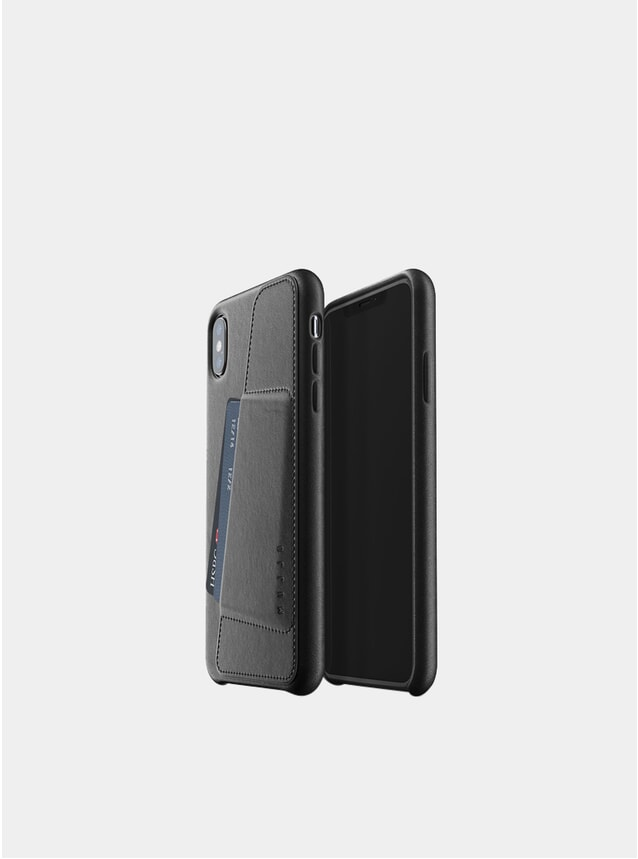 Black iPhone Xs Max Leather Wallet Case