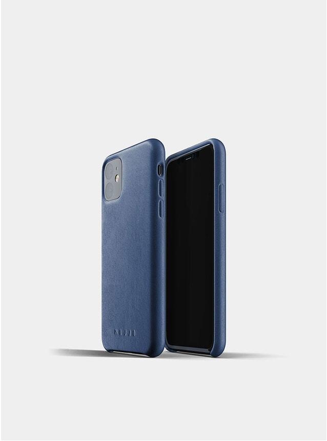 Monaco Blue Full Leather iPhone 11 Case