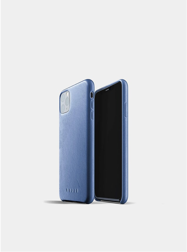 Monaco Blue Full Leather iPhone 11 Pro Max Case