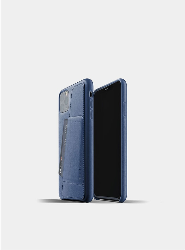 Monaco Blue Full Leather Wallet iPhone Pro Max Case