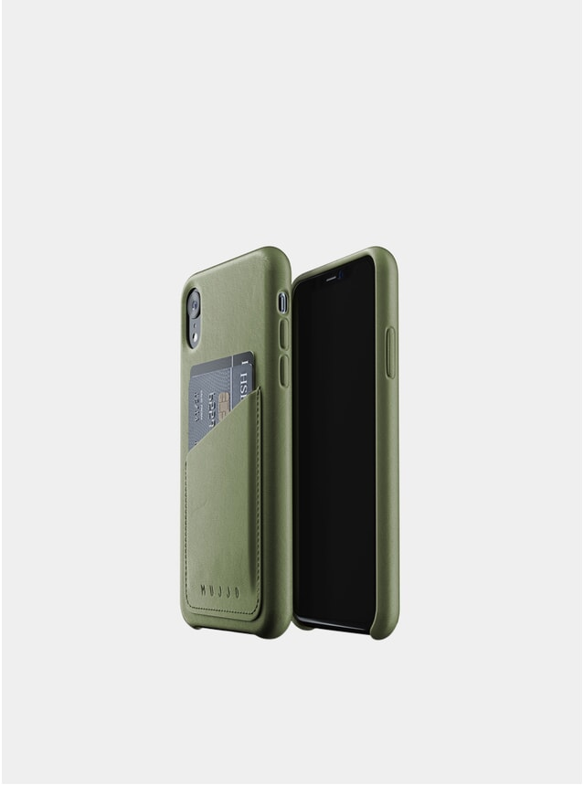 Olive iPhone Xr Leather Wallet Case