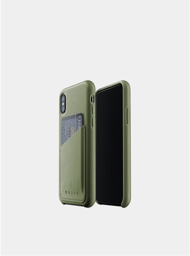 Olive iPhone Xs Leather Wallet Case