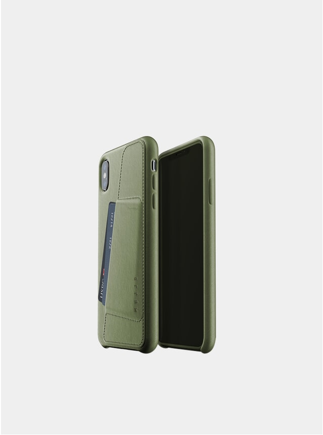 Olive iPhone Xs Max Leather Wallet Case