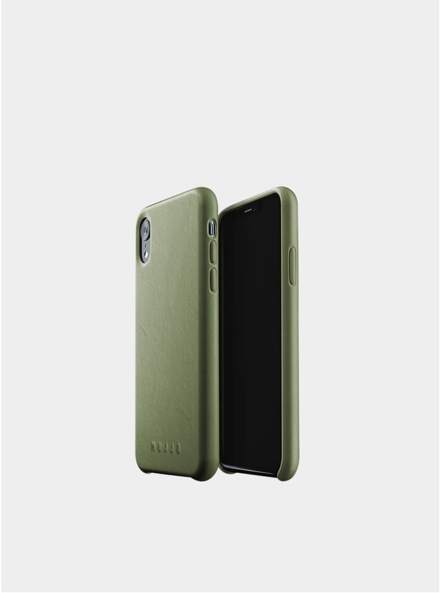 Olive Xr iPhone Full Leather Case