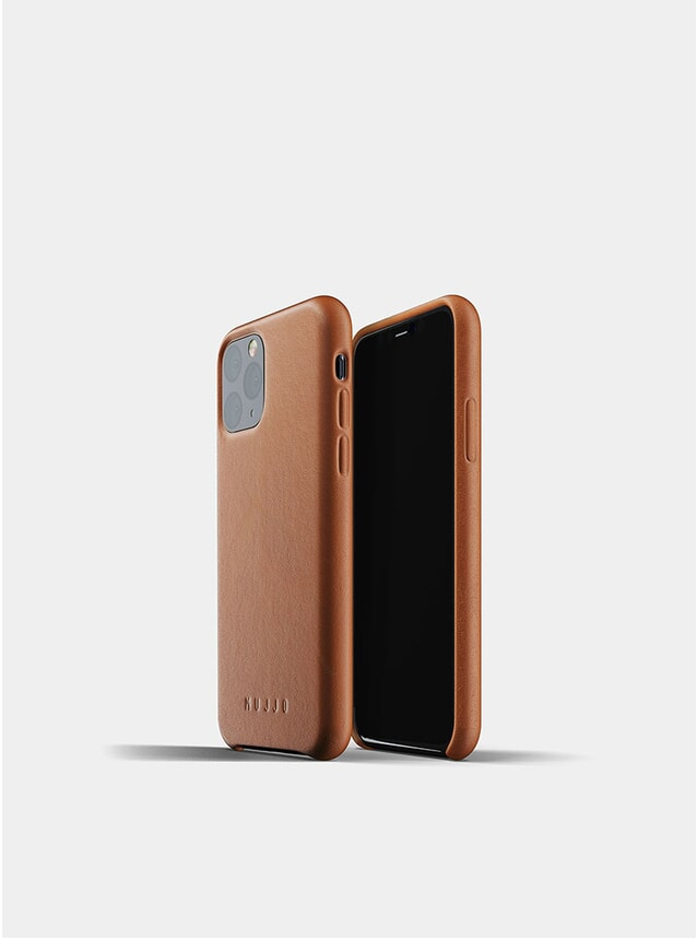 Tan Full Leather iPhone 11 Pro Case