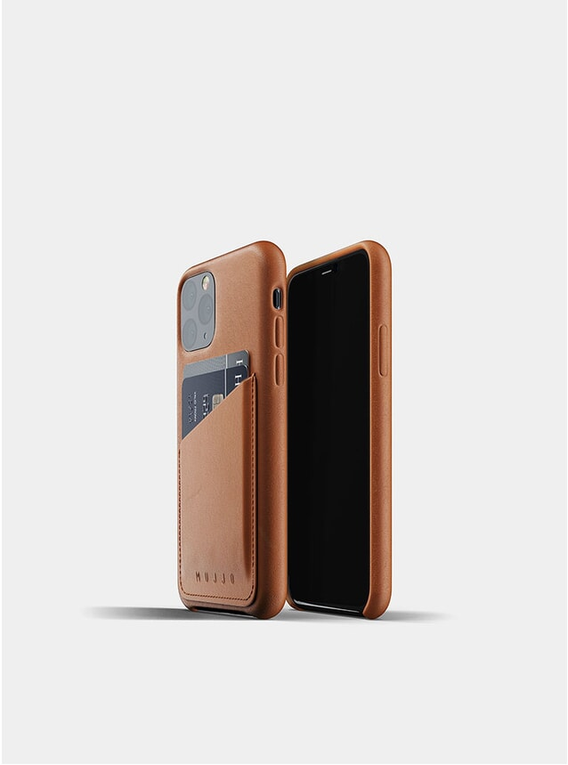 Tan Full Leather Wallet iPhone 11 Pro Case