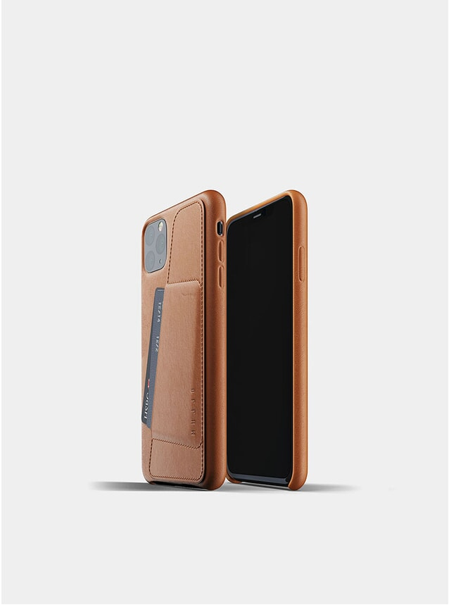 Tan Full Leather Wallet iPhone Pro Max Case