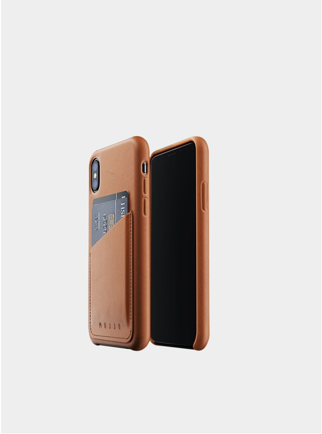 Tan iPhone Xs Leather Wallet Case