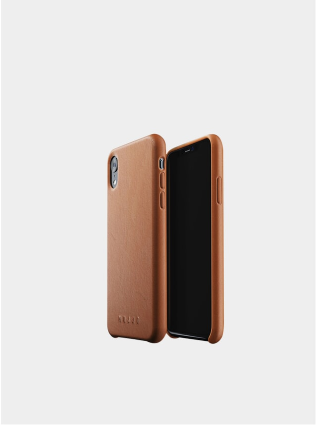 Tan Xr iPhone Full Leather Case
