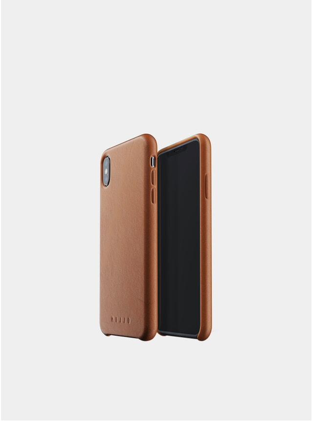 Tan Xs Max iPhone Full Leather Case
