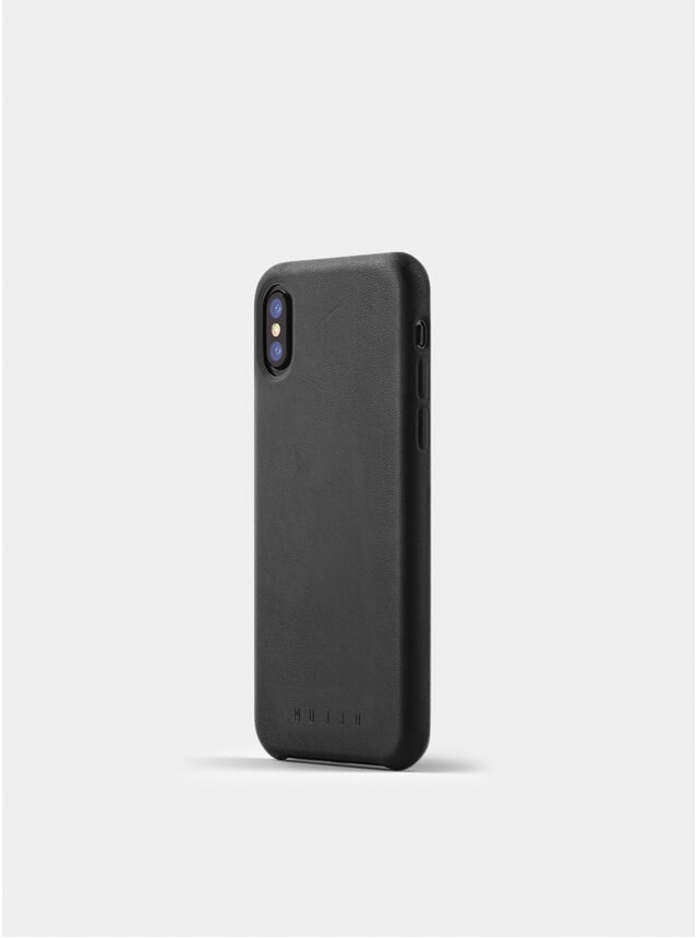 Black Full Leather iPhone X Case