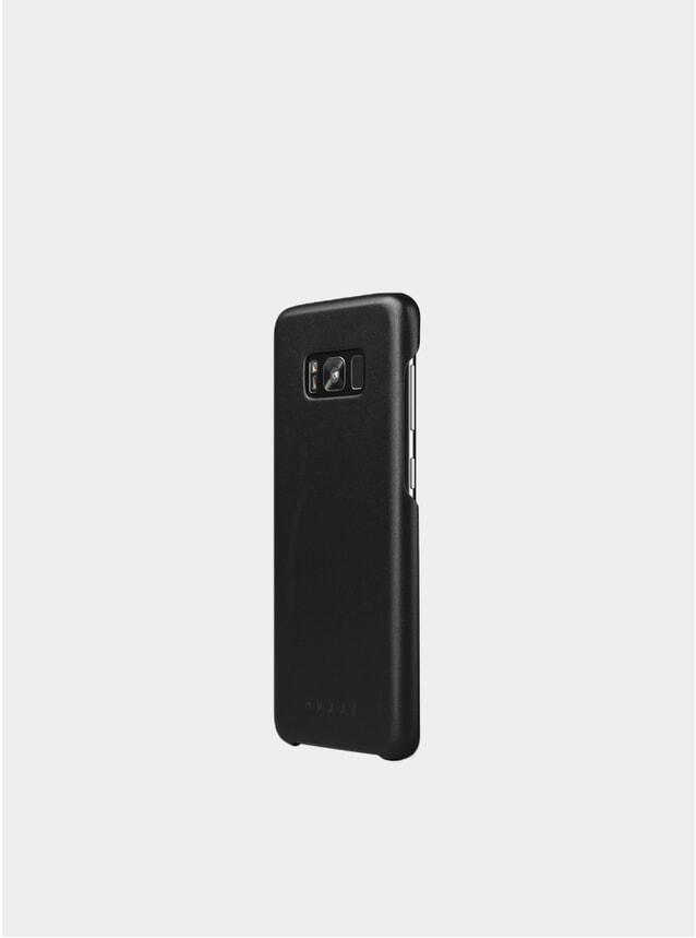 Black Galaxy S8 Plus Leather Case