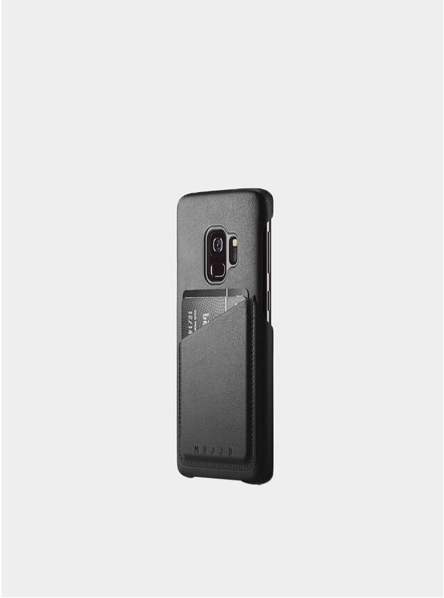 Black Galaxy S9 Leather Wallet Case