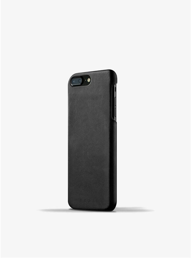 Black Leather iPhone 8 Plus / 7 Plus Case