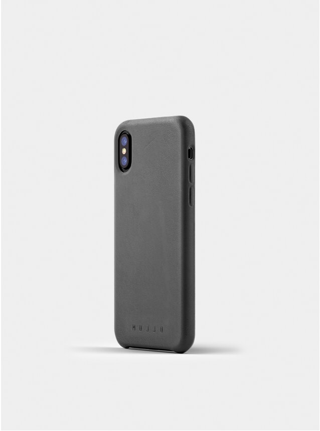 Grey Full Leather iPhone X Case