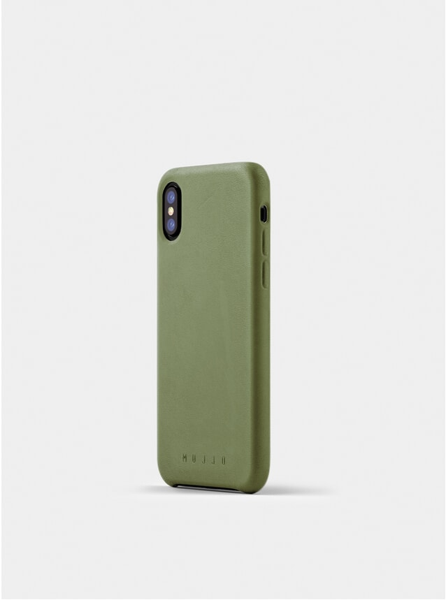 Olive Full Leather iPhone X Case