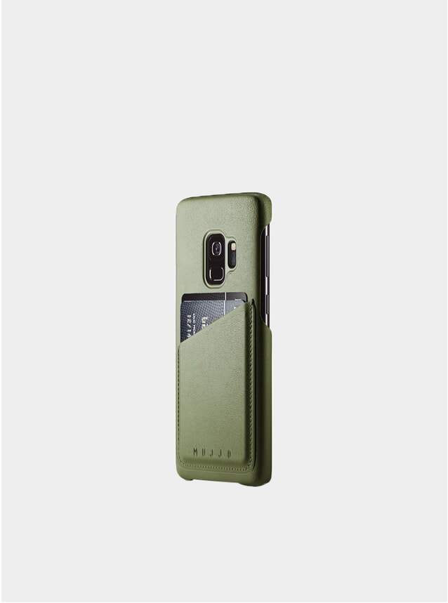 Olive Galaxy S9 Leather Wallet Case