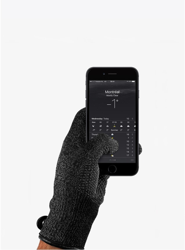 Singled Layered Touchscreen Gloves