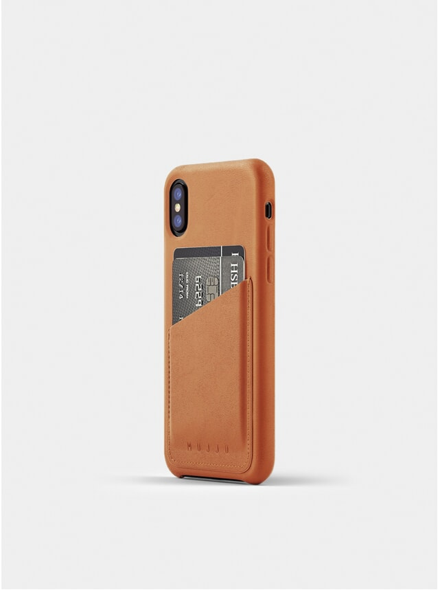 Tan Full Leather iPhone X Wallet Case