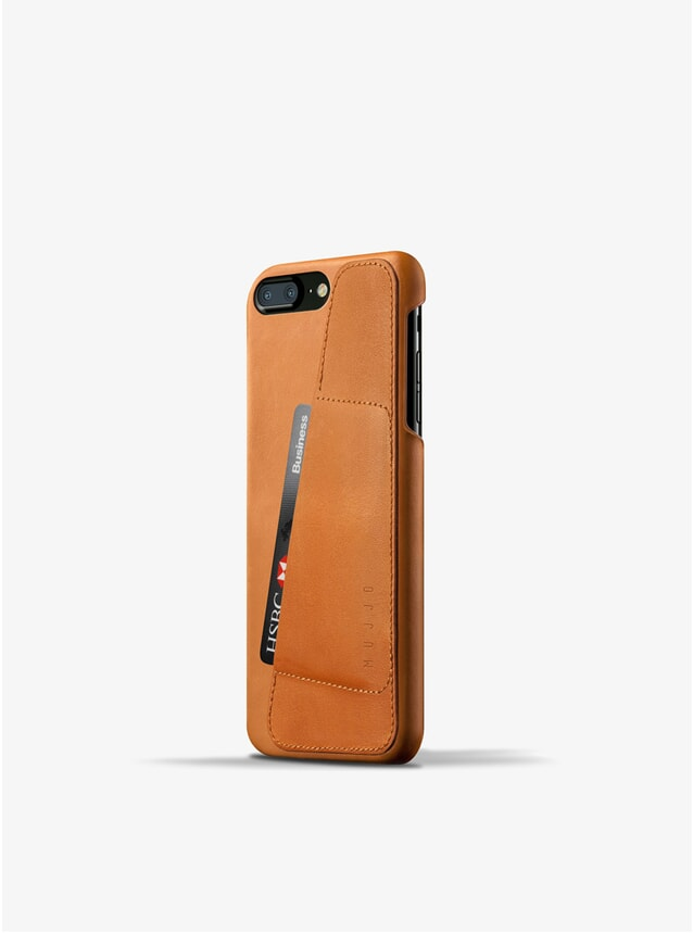 Tan Leather iPhone 8 Plus / 7 Plus Wallet Case