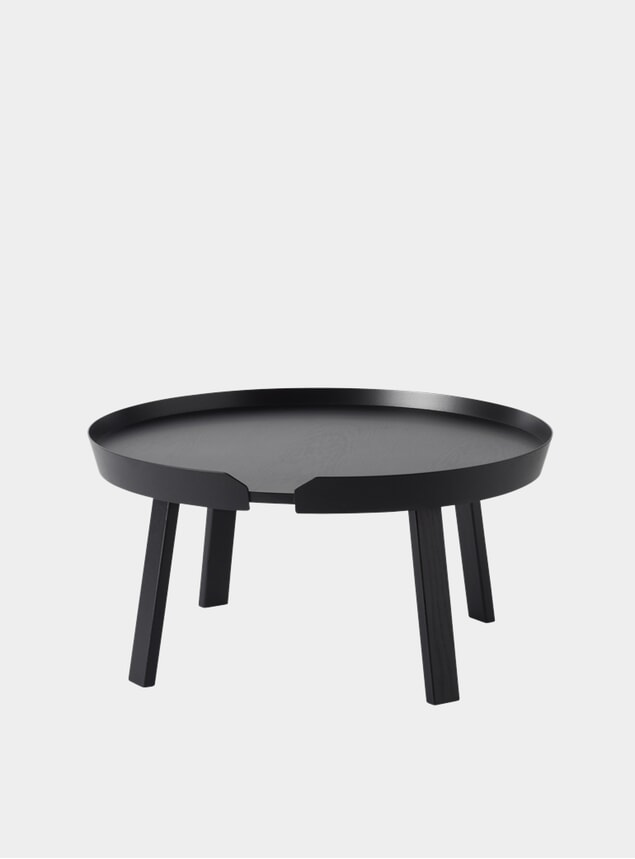 Black Large Around Coffee Table