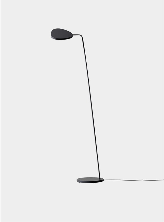 Black Leaf Floor Lamp