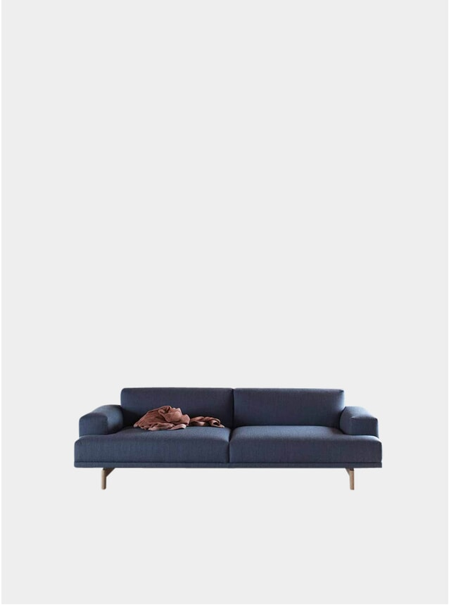 Blue Three Seater Compose Sofa