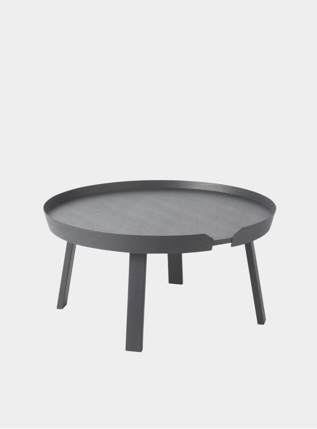 Dark Grey Large Around Coffee Table