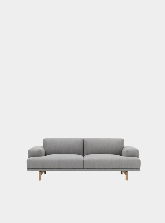 Grey Two Seater Compose Sofa